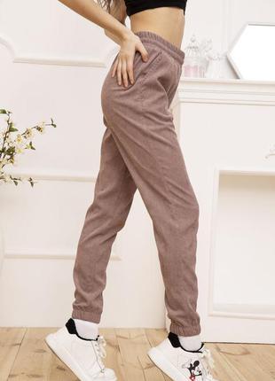 Женские вельветовые штаны пудрового цвета 102r176