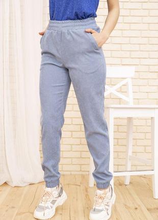 Женские вельветовые штаны голубогоо цвета 102r176