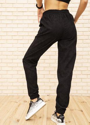 Женские вельветовые штаны черного цвета 102r176