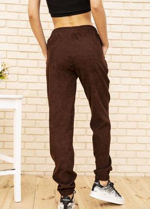 Женские вельветовые штаны коричневого цвета 102r176