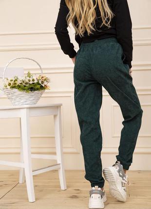 Штаны вельветовые женские с карманами цвет зеленый 102r176