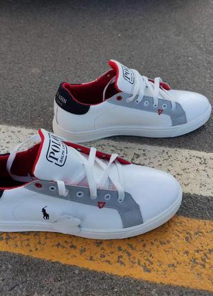 Белые кожаные кеды кроссовки р.41-45 наложенный платеж