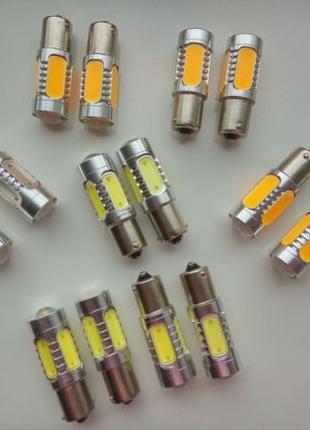 LED лампы поворотники, габариты, стопы 1156, 1157 H9 T10 W5W 7...