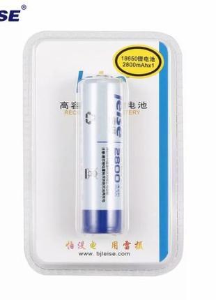 Li-ion 18650 2800mAh 3.7V Аккумуляторные батарейки Leise