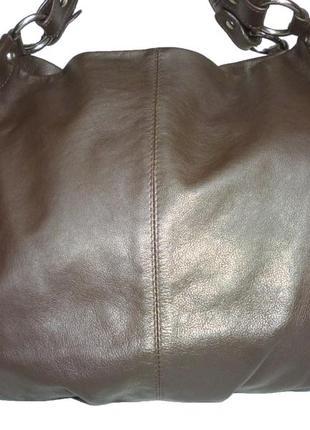 Стильная большая сумка натуральная кожа estelle
