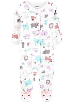 Человечек хлопковый carters 9м слип пижама