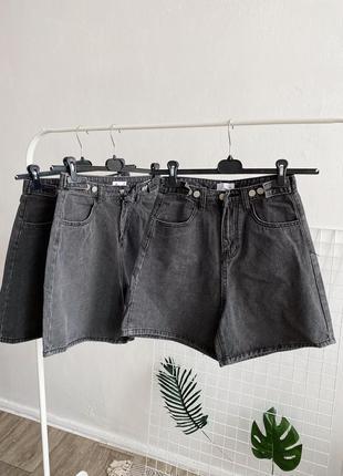 Женские джинсовые шорты бермуды