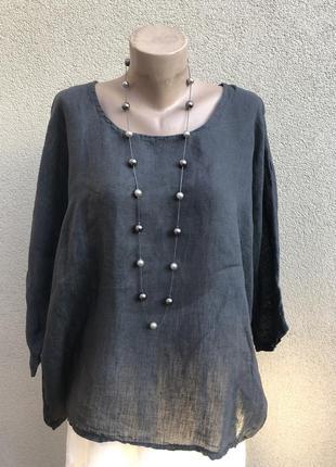 Льняная блуза,рубаха реглан,этно,бохо стиль,лен100%,