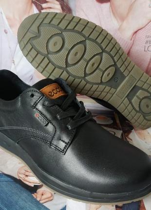 Мужские туфли натуральная кожа ботинки демисезонные экко