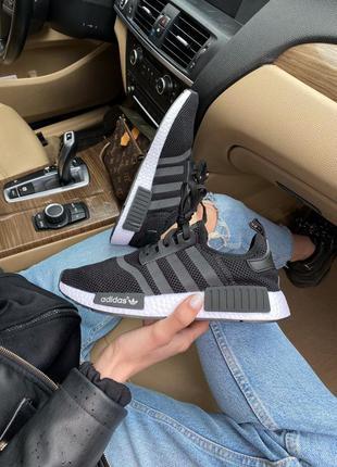 Кроссовки adidas nmd r1 black/white кросівки