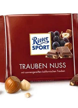 Шоколад RITTER SPORT Trauben Nuss, 100g прямые поставки из Герман