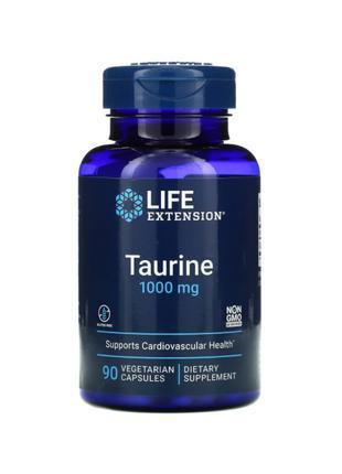 Таурин, 1000 мг, Life Extension, 90 капсул