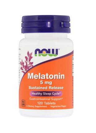 Now Foods, Мелатонин, 5 мг, 120 таблеток