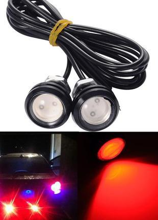 ДХО LED огни заднего хода 18 мм светодиод красный!