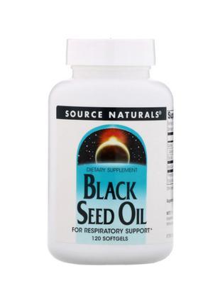 Source Naturals, Масло семян черного тмина, 120 мягких капсул