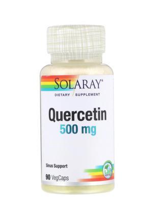 Solaray, Кверцетин, 500 мг, 90 растительных капсул