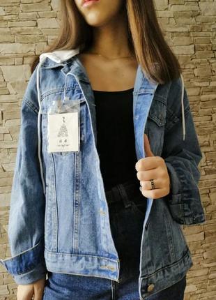 Куртка джинсовая с капюшоном