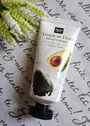 Крем для рук с авокадо и маслом ши farmstay tropical fruit han...