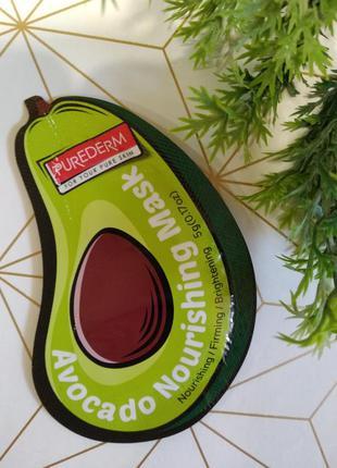 Питательная маска для лица с авокадо purederm avocado nourishi...
