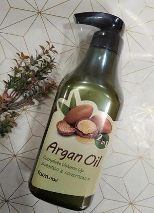 Шампунь-кондиционер с aргановым маслом farmstay argan oil sham...