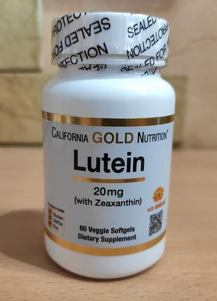 Лютеин с зеаксантином, 20 мг, 60 растительных капсул