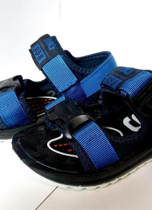 Детские сандали, летняя обувь для мальчика, босоножки синие с ...