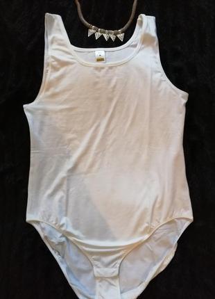 Отличный белый боди комбидресс купальник, натуральная ткань