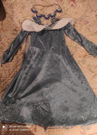 Новогоднее платье принцессы, снежной королевы или другого перс...
