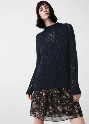 Свитер ажурный пуловер от mango  шерсть модель новый бирки