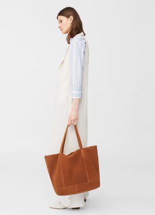 Замшевая сумка шоперр от mango стильная и вместительная вещь. ...