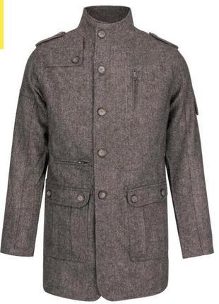 Мужское шерстяное пальто куртка плащ lee cooper оригинал