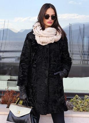 Пальто- шуба аукционная персидская каракульча. хит сезона. ита...