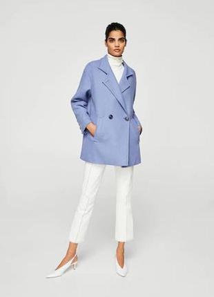 Пальто mango пальто шерсть последняя коллекция! оверс. хит мод...