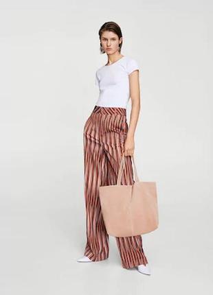 Стильная сумка mango шикарный цвет нат замш весна-лето 2019