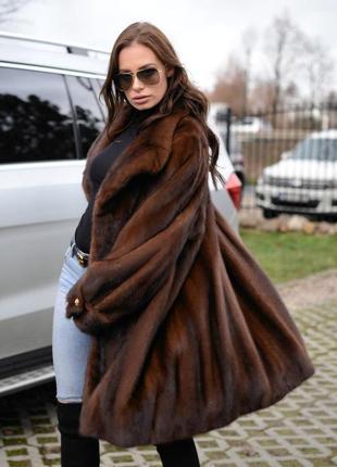 Норковая шуба норковое манто -пальто италия  шикарный цвет пос...