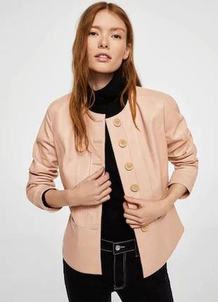 Кожаная куртка от mango испания оригинал! хит модель 2020-2121...