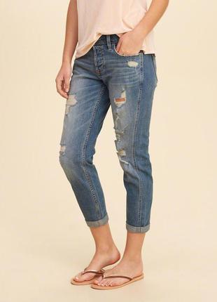 Шикарные джинсы бойфренд от holliste rновые оригинал америка -...