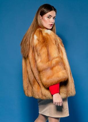 Шуба стильная канадская лиса golden ! . италия элитный мех.46-...