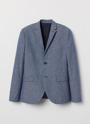 Хлопковый пиджак slim fit
