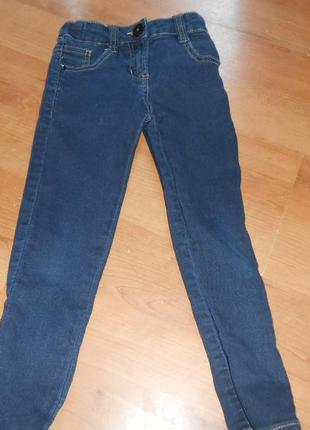 Джинсы на девочку 5 лет  узкие,модные denim