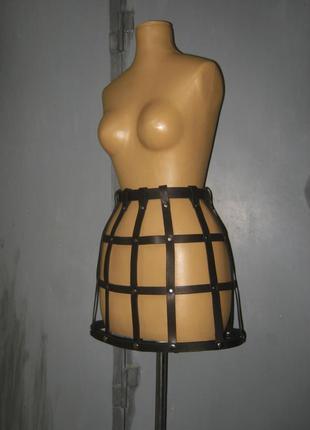 Кожаная баска , пояс баска,юбка баска из плотной итальянской к...