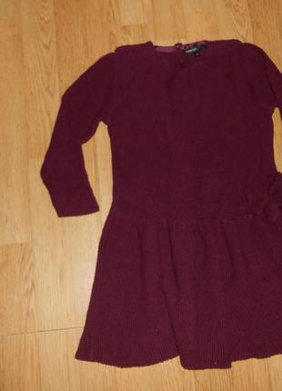 Платье на девочку 8-9 лет  теплое,трикотажное  marks & specer