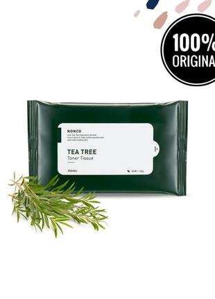 Салфетки для проблемной кожи с маслом чайного  дерева