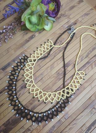 Ожерелье из бисера в этно стиле.