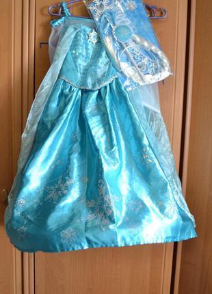 Карнавальный костюм эльза на 4-5 лет, платье эльза, холодное с...