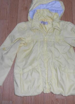Куртка-ветровка на девочку 7-8 лет