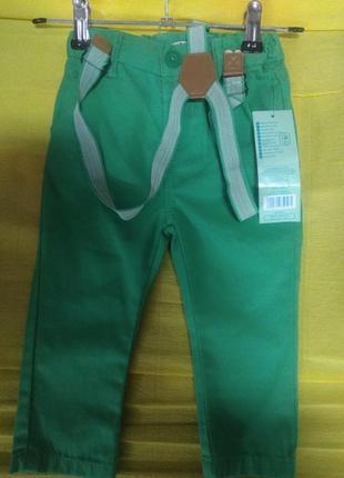Брюки штаны на мальчика pepco 80 размер на подтяжках