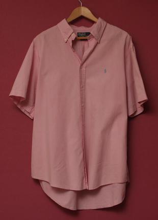Polo ralph lauren рр xl 17 1/2 44 рубашка 2-ply в мелкую клеточку