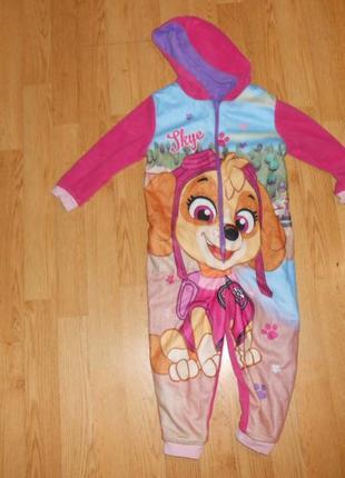 Пижама-человечек на девочку 1-1,5 года