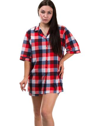 Пижама женская рубашка и шорты